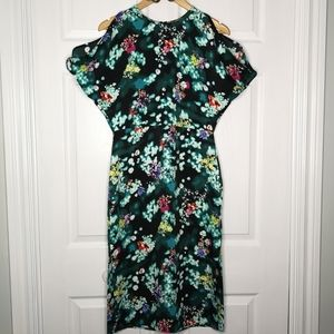 H&M Dress Fitted Slim Retro Kimono Style Size 8